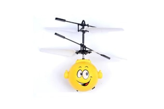 Infrared Induction Flying Toy Helicopter Drone Indoor And Outdoor Games Toys Yellow