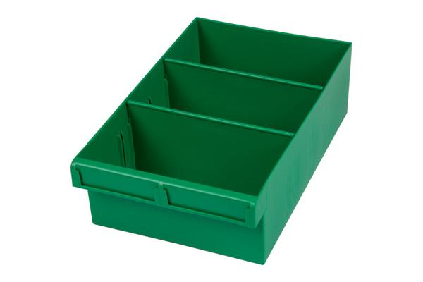 Fischer Plastic Green 300Mm Large Parts Tray