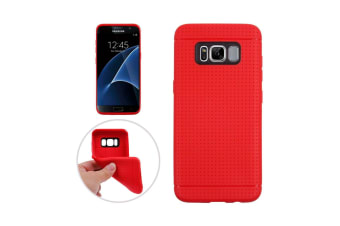 For Samsung Galaxy S8 Case Honeycomb Texture Durable Shielding Cover Red