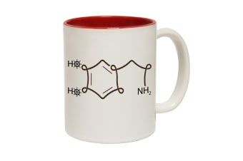 123T Funny Mugs - Ocean Bound Sailing Dopamine Chemical Structure - Red Coffee Cup