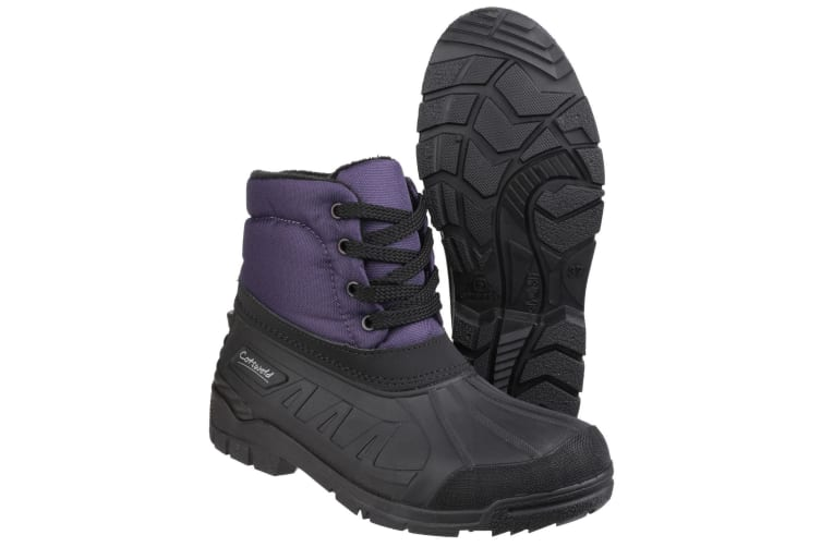 Cotswold Womens/Ladies Leoni Lace Up Wellington Boots (Purple) (3 UK)