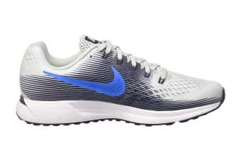 Nike Men's Air Zoom Pegasus 34 Running Shoe (Pure Platinum/Thunder Blue, Size 10.5)