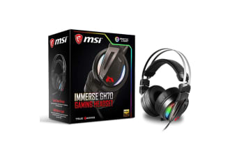 MSI Immerse Gaming Headset with Hi-Res High Quality Speaker for PC & Mobile - GH70