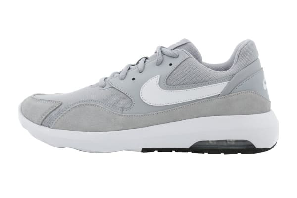 Nike Men's Air Max Nostalgic Shoes (Wolf Grey/White/Black, Size 10)