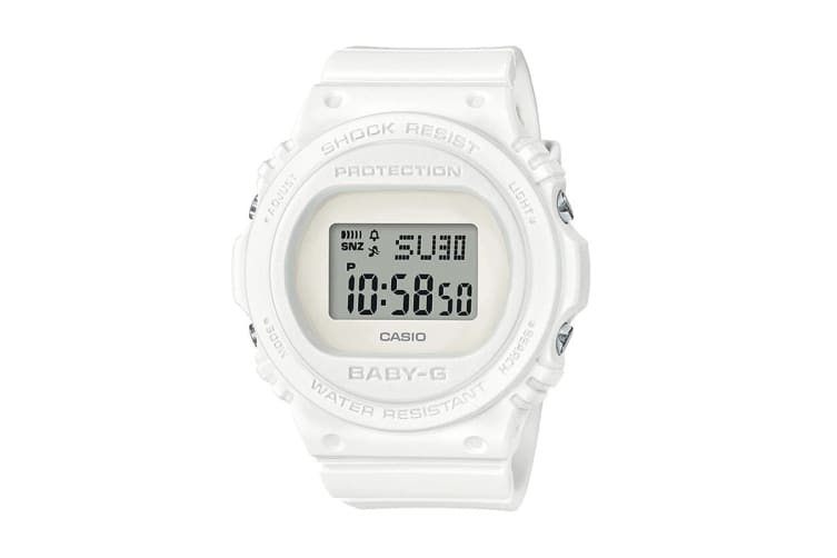 Casio Baby-G Digital Watch with Resin Band - White (BGD570-7D)