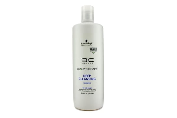 Schwarzkopf BC Scalp Therapy Deep Cleansing Shampoo (For Oily Scalps) (1000ml/33.8oz)