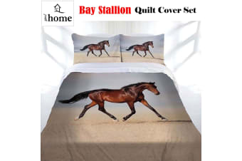 Bay Stallion Quilt Cover Set Single by Just Home