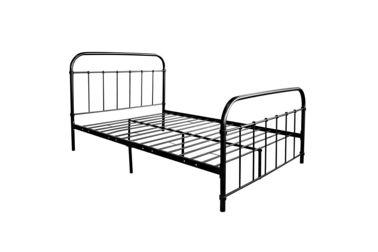 DOUBLE Metal Bed Frame Size Mattress Base Support Bedroom Furniture