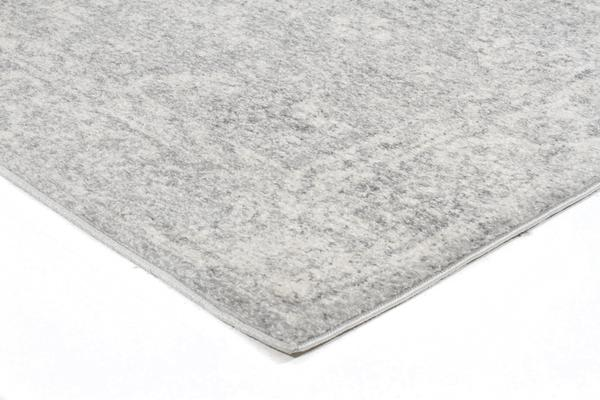 Shine Silver Transitional Rug 300x80cm