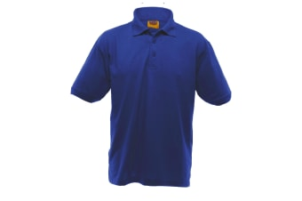 UCC 50/50 Mens Heavyweight Plain Pique Short Sleeve Polo Shirt (Royal) (XL)