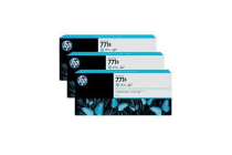 HP 771B 775ml 3-P Light Cyan Ink Cart B6Y28A