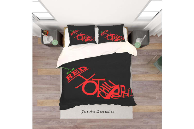 3D Band Red Hot Chili Peppers Quilt Cover Set Bedding Set Pillowcases 46-Single