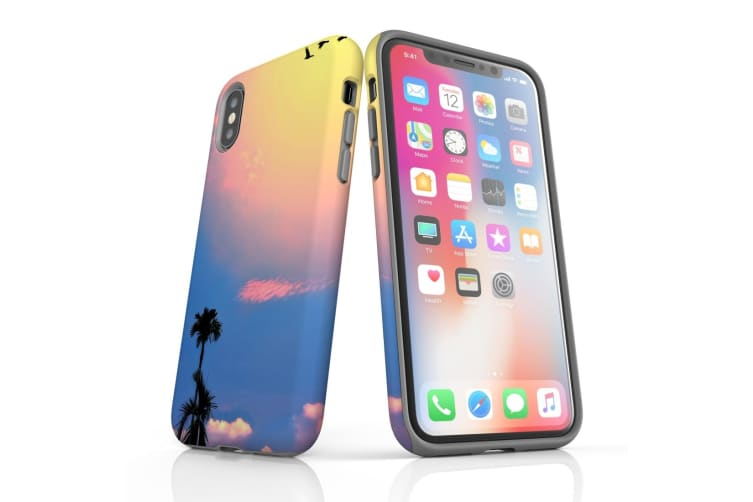 For iPhone XS & X Protective Case Unique Phone Cover  Sky