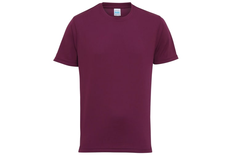 Just Cool Mens Performance Plain T-Shirt (Plum) (XS)