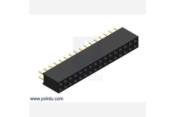 "0.100"" (2.54 mm) Female Header: 2x16-Pin, Straight"