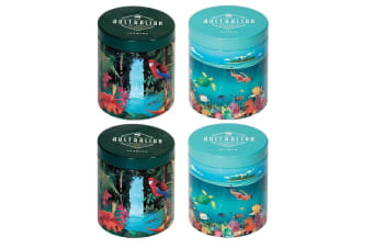 4x Scented Tin Candle Australian Collection Portable Aromatherapy Candles
