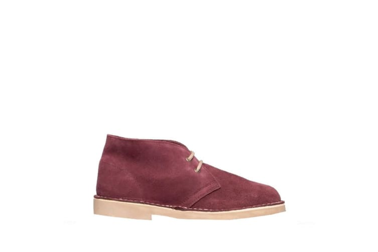 Roamers Adults Unisex Real Suede Unlined Desert Boots (Bordeaux) (8 UK)