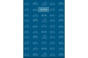 Cycling - 2020 Diary Planner A5 Padded Cover by The Gifted Stationery