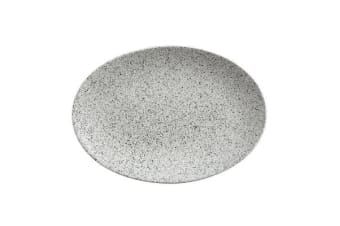 Maxwell & Williams Caviar Speckle Oval Plate 35x25cm Cream