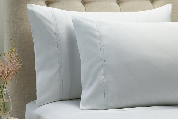 Style & Co 1000TC 100% Egyptian Cotton Essex Bed Sheet Set (King, White)