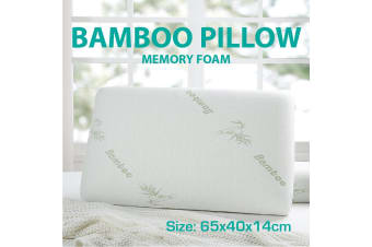 Bamboo Memory Foam Fabric Fibre Cover Standard Pillows