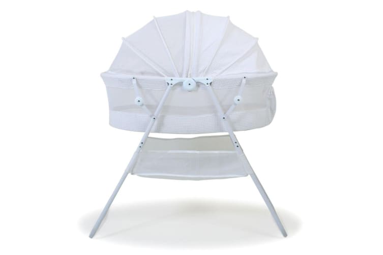 Valco Baby White Standing Rico Bassinet Fully Enclosed for Baby/Infant/Newborn