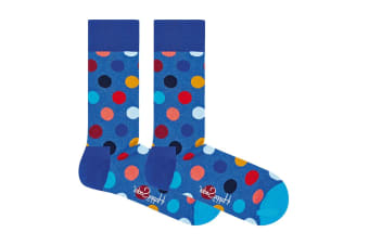 Happy Socks Big Dot Sock (Blue, Size 41-46)
