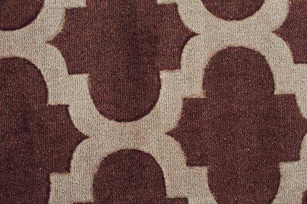 Trellis Stylish Design Rug Brown 280x190cm