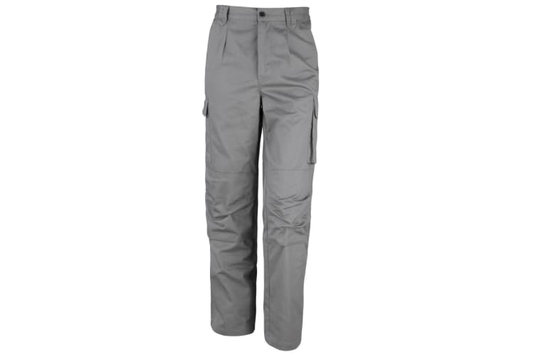 Result Unisex Work-Guard Windproof Action Trousers / Workwear (Grey) (M)