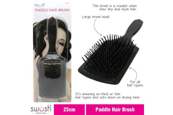 Hair Brush Paddle with Nylon Pins Large Brush Head All Hair Type 23cm