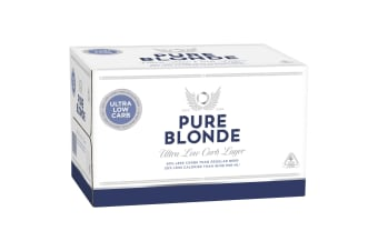 Pure Blonde Ultra Low Carb Lager Beer 24 x 355mL