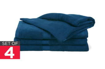 Ovela Set of 4 Bamboo Cotton Luxury Bath Sheets (Moonlight Blue)
