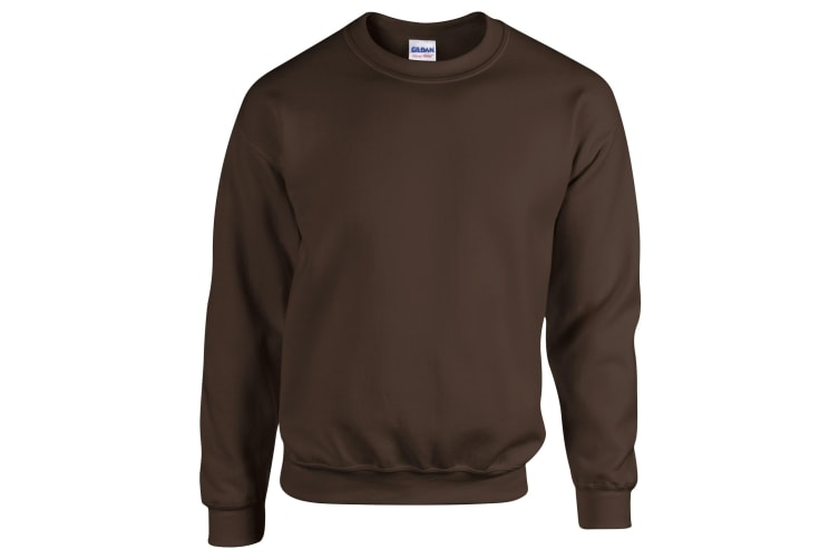 Gildan Heavy Blend Unisex Adult Crewneck Sweatshirt (Dark Chocolate) (L)