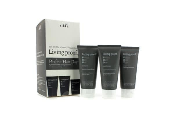 Living Proof Perfect Hair Day (PHD) Travel Kit : Shampoo 60ml + Conditioner 60ml + 5-in-1 Styling Treatment 60ml (3pcs)