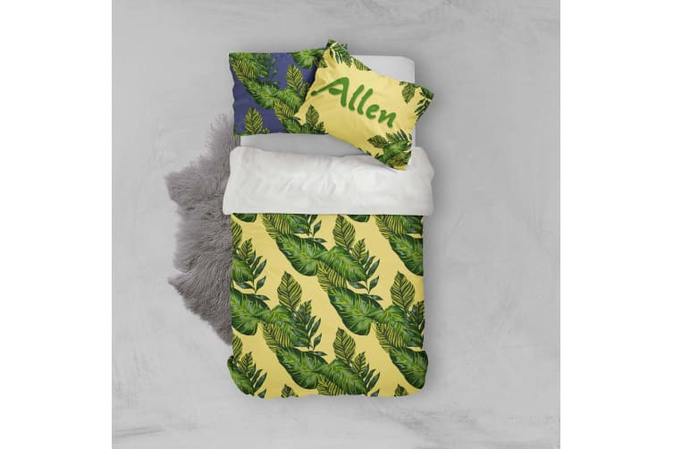 3D Leaves Yellow Quilt Cover Set Bedding Set Pillowcases 46-Queen