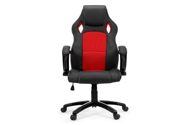 Ovela Racing Seat Faux Leather Office Chair (Red)