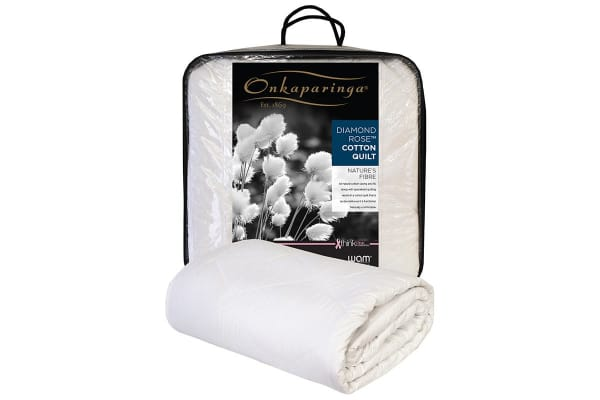 Onkaparinga Diamond Rose Cotton Quilt (Double)