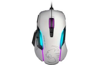 ROCCAT KONE AIMO RGBA Smart Customization Gaming Mouse (White Version)