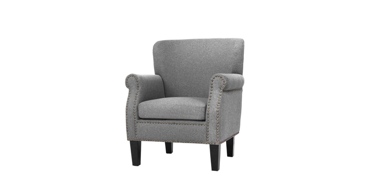 nai artiss armchair accent chair retro armchairs lounge accent chair single sofa linen fabric seat grey upho c 8083 gy