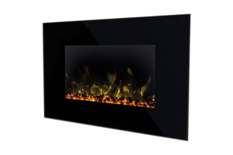Dimplex 2kW Toluca Deluxe Wall Mounted Electric Fire with Optiflame LED - Black (TLC20LX-AU)