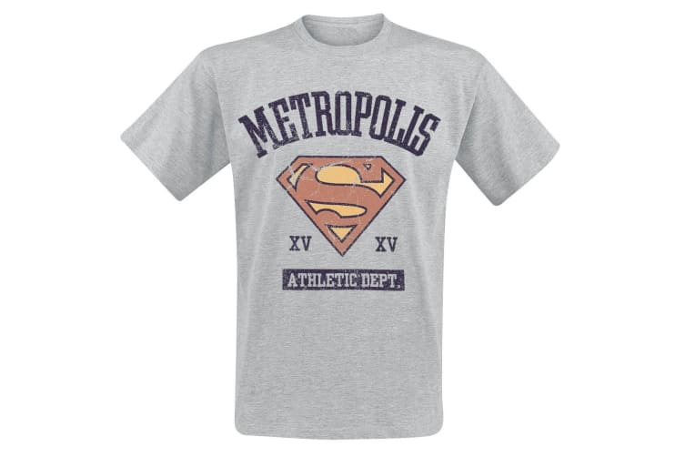 Supergirl Adults Unisex Adults Athletic Department T-Shirt (Grey) (L)