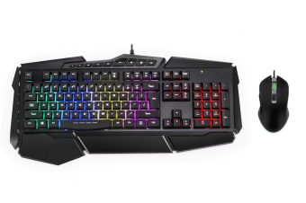 Kogan Rainbow Backlit Gaming Keyboard & Mouse Combo