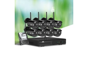 UL Tech CCTV Wireless Security System 2TB 8CH NVR 1080P 8 Camera Sets