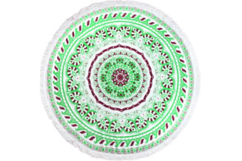 TODO Luxury Thick Microfiber Round Beach Towel Throw Rug Ttowel09