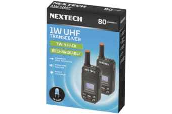 NEXTECH 1W UHF Transceiver Twin Pack