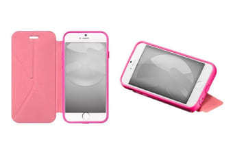 """Switcheasy Rave Pink Pu Leather Folio Case Cover W/Stand For Iphone 6 Plus 5.5"""""""