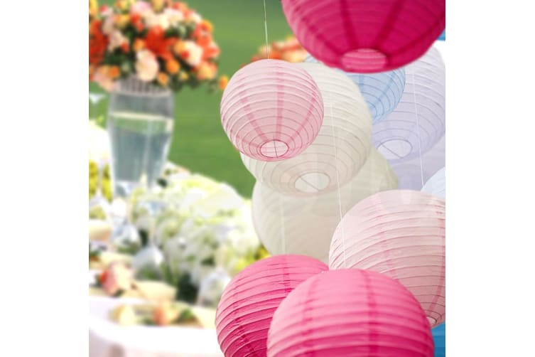 Paper Lanterns for Wedding Party Festival Decoration - Mix and Match Colours  -  24 pcsBaby BlueNo