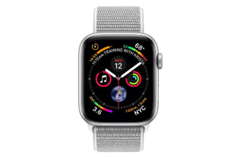 Apple Watch Series 4 40mm GPS Silver Aluminum Case with Seashell Sport Loop