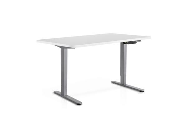 Image of 100cm Motorised Electrical Adjustable Frame Standing Desk (White/Grey)