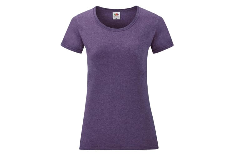 Fruit Of The Loom Ladies/Womens Lady-Fit Valueweight Short Sleeve T-Shirt (Heather Purple) (S)
